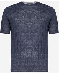 Tagliatore - T-shirt in maglia di lino a coste - Lyst