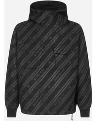 Givenchy All-over-logo Oversize Wool-blend Hoodie - Multicolor