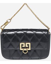 Givenchy Pocket Mini Quilted Leather Bag - Black
