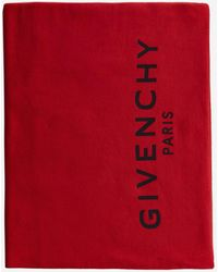 Givenchy Logo Cotton And Cashmere Scarf - Red