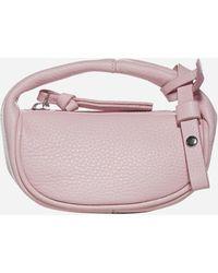 BY FAR Micro Cush Flat Leather Hand Bag - Pink