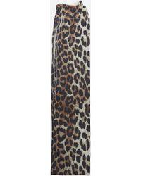 Ganni Leopard Print Stockings - Multicolor