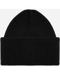 Laneus Wool And Angora Beanie - Black