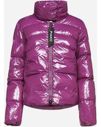Pinko Mirco Quilted Nylon Down Jacket - Purple