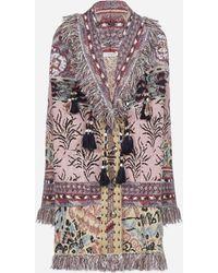Etro Cappotto in maglia jacquard con motivi folk - Multicolore