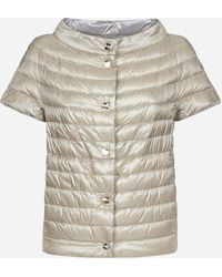 Herno Reversible Quilted Nylon Short Sleeves Down Jacket - Multicolor