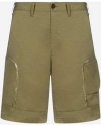 Stone Island Shadow Project Cotton -blend Cargo Shorts - Green