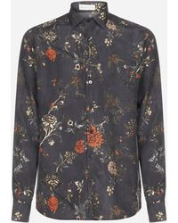 Etro Floral Print Relaxed Fit Shirt - Grey