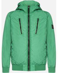Stone Island Nylon Hooded Jacket - Green