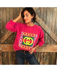 DANNIJO - Vintage Gucci Pink Sweatshirt - Lyst
