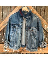 DANNIJO - Vintage Denim Jacket With Embroidery - Lyst