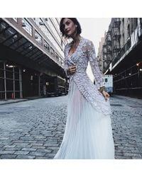 DANNIJO - Vintage Cream Pleated Slip Dress - Lyst