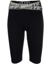 Off-White c/o Virgil Abloh Logo-tape Cycling Shorts - Black