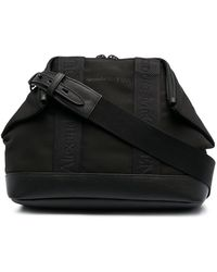 Alexander McQueen 'logo' Crossbody Bag - Black