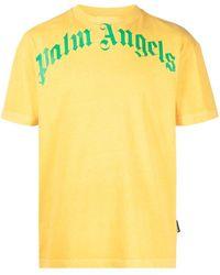 Palm Angels T-SHIRT LOGO - Giallo