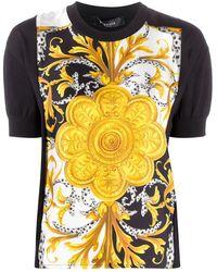 Versace Barocco Acanthus Print Top - Multicolour