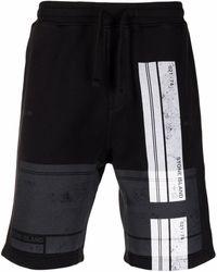 Stone Island Logo-print Drawstring Shorts - Black