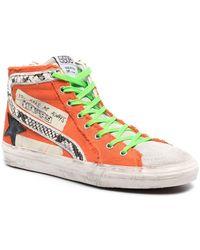 Golden Goose Deluxe Brand 'slide' Hi-top Sneakers - Orange