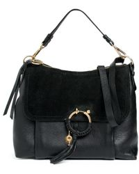 See By Chloé Joan Leather & Suede Shoulder Bag - Black