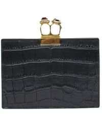 Alexander McQueen - Small Jeweled Double-ring Clutch - Lyst
