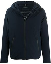 Ecoalf Hooded Zip Fastened Jacket - Blue
