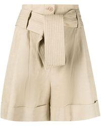 P.A.R.O.S.H. - Viscose Linen Shorts - Lyst