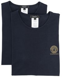 Versace Logo T-shirt (pack Of 2) - Blue