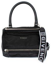 Givenchy 4g Small Pandora Bag In Nylon - Black