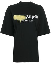 Palm Angels Sprayed Logo T-shirt - Black