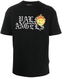 Palm Angels T-shirt con stampa - Nero