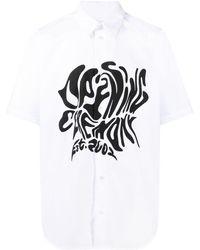 Opening Ceremony Melted Logo Cotton Shirt - White