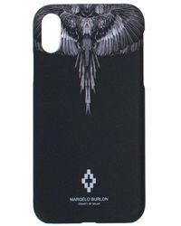 Marcelo Burlon Wings Print Iphone Xs Max Case - Black