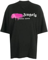 "Palm Angels T-SHIRT ""SPRAYED LOGO"" - Nero"