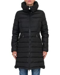 Moncler Flammette Stripe-quilted Mid-length Puffer Coat - Green