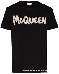 Alexander McQueen T-SHIRT STAMPA LOGO - Nero