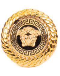 Versace Logo Ring - Metallic