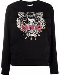 KENZO Embroidered Logo Sweatshirt - Black