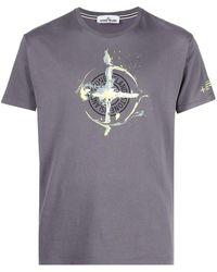 Stone Island Logo T-shirt - Gray