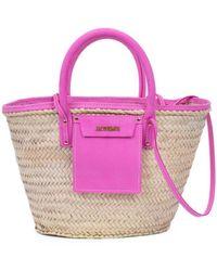 Jacquemus Le Panier Soliel Tote Bag - Pink
