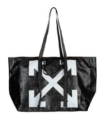 Off-White c/o Virgil Abloh Logo Pvc Tote Bag - Black