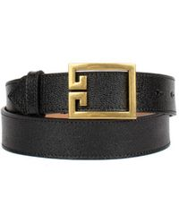 Givenchy Double G Belt In Leather - Black