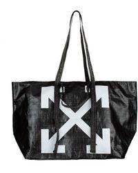Off-White c/o Virgil Abloh Logo Pvc Tote Bag - Black