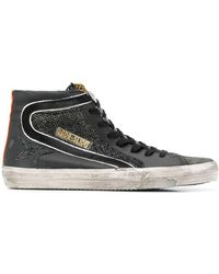 Golden Goose Deluxe Brand Black Slide Double Quarter High-top Sneaker