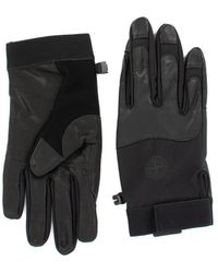Stone Island Logo Gloves - Black
