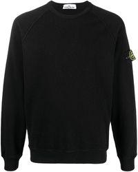Stone Island Logo Patch Sweatshirt - Black