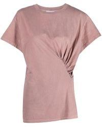 Dondup Draped Detail T-shirt - Brown