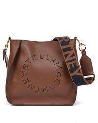 Stella McCartney Mini Crossbody Logo Bag - Brown