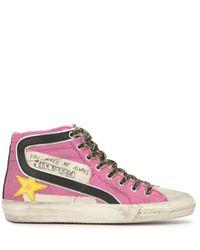 Golden Goose Deluxe Brand Slide Sneakers - Pink