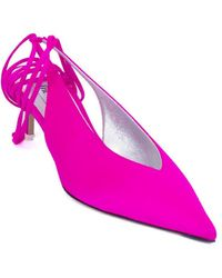 The Attico Satin Lace-up Court Shoes - Pink