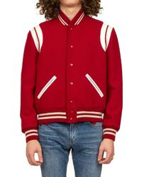 Saint Laurent Classic Teddy Jacket - Red